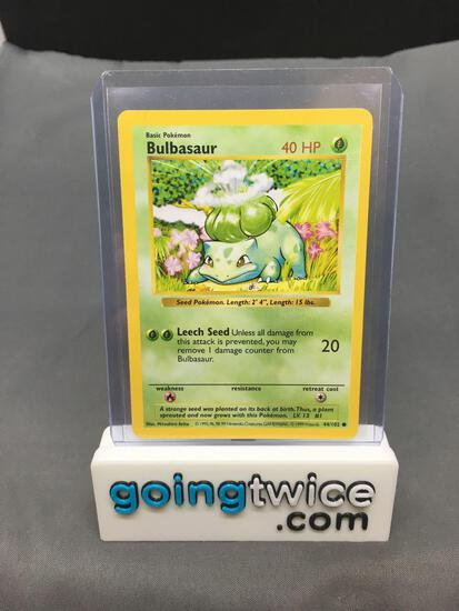 1999 Pokemon Base Set Shadowless #44 BULBASAUR Trading Card
