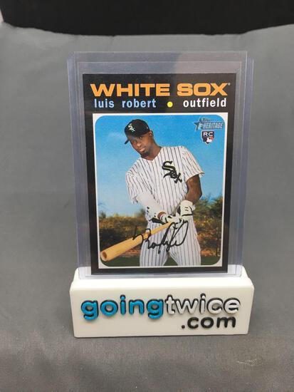 2020 Topps Heritage #512 LUIS ROBERT White Sox ROOKIE Baseball Card
