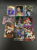 9 Card Lot of REFRACTOR & PRIZM Sports Cards with Rookies Stars and More!