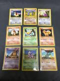 9 Card Lot of Vintage Base Set SHADOWLESS Pokemon Cards from Massive Collection