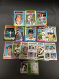 15 Card Lot of Vintage 1970's Baseball Cards from Huge Estate Haul with Rookies and Stars and More!