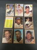 9 Card Lot of Vintage 1962 Topps Baseball Cards from Estate Collection