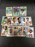 15 Card Lot of Vintage 1970's Football Trading Card from Huge Estate Collection
