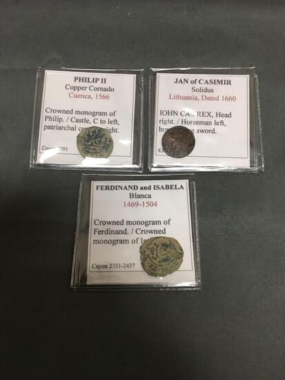 WOW 3 Count Lot of Ancient Coins from HIGH END COLLECTION