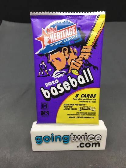 Factory Sealed 2020 Topps Heritage Minor League Baseball 8 Card Hobby Edition Pack