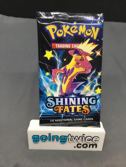 Factory Sealed Pokemon SHINING FATES 10 Card Booster Pack - Charizard Vmax?