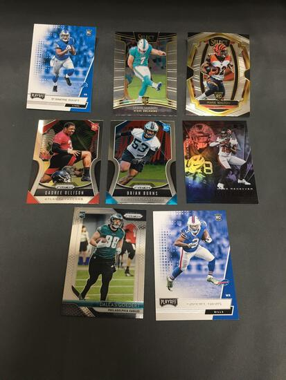 9 Card Lot of FOOTBALL ROOKIE CARDS - Mostly 2018 and NEWER with STARS and FUTURE STARS!