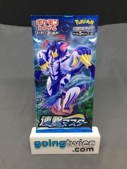 Factory Sealed Pokemon Japanese RAPID STRIKE 5 card Booster Pack