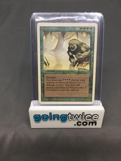 Magic the Gathering Revised FORCE OF NATURE Trading Card from Collection