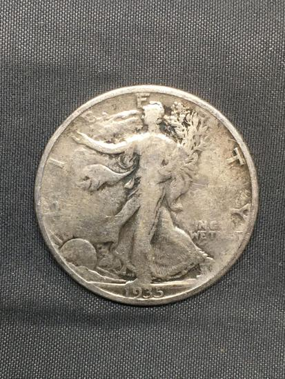 1935-S United States Walking Liberty Silver Half Dollar - 90% Silver Coin from Estate
