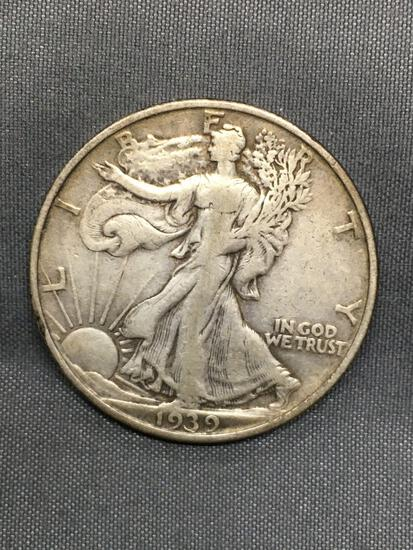 1939-S United States Walking Liberty Silver Half Dollar - 90% Silver Coin from Estate