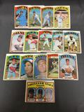 15 Card Lot of 1972 Topps Vintage Baseball Cards from Estate