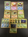 15 Count Lot of ALL Vintage Pokemon 1st Edition Cards