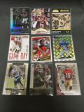 9 Card Lot of FOOTBALL ROOKIE CARDS with Stars and Newer Sets - HIGH BOOK VALUE!