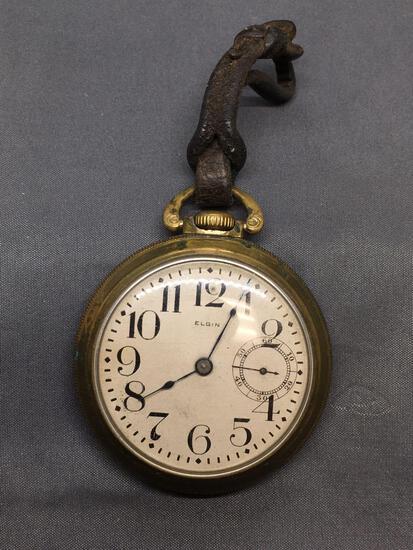 Elgin Designer Round 55mm Diameter 18mm Deep Vintage Pocket Watch