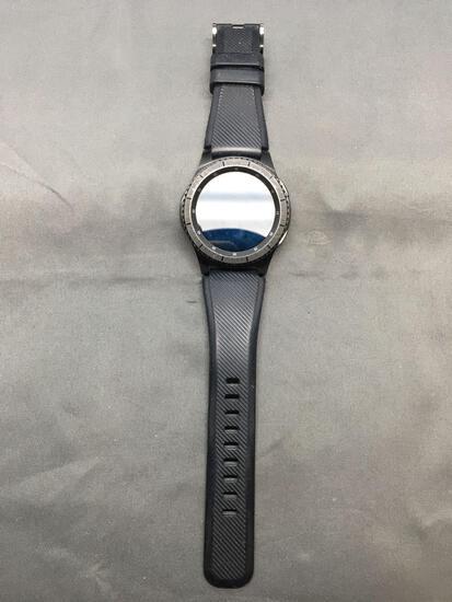 Samsung Designer Gear S3 Frontier Model Round 45mm Diameter Bezel Stainless Steel Smart Watch w/
