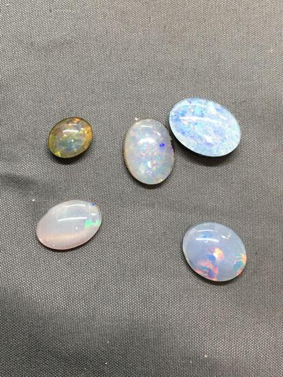 Lot of Five Medium Loose Oval Shaped Opal Triplet Gemstones