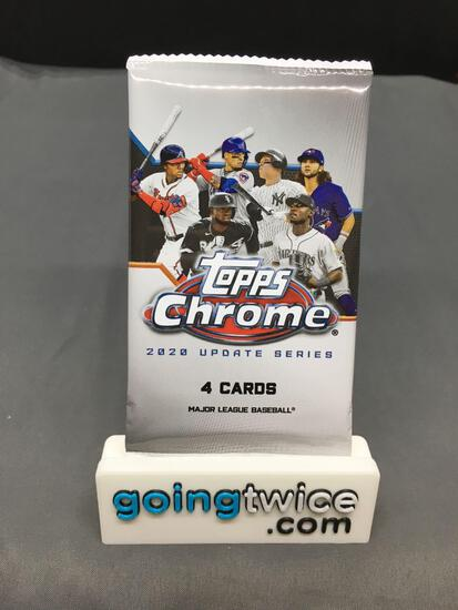 Factory Sealed 2020 TOPPS CHROME Baseball Update Series 4 Card Pack