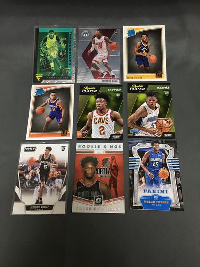9 Card Lot of Basketball ROOKIE Cards - Mostly Modern Years - Prizms, Future Stars and More!