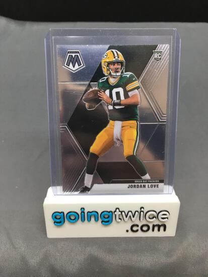 2020 Panini Mosaic Football #211 JORDAN LOVE Rookie Trading Card - Green Bay Packers