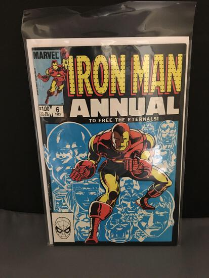 1983 Marvel Comics IRON MAN Annual #6 Bronze Age Comic from Longtime Collection - ETERNALS!
