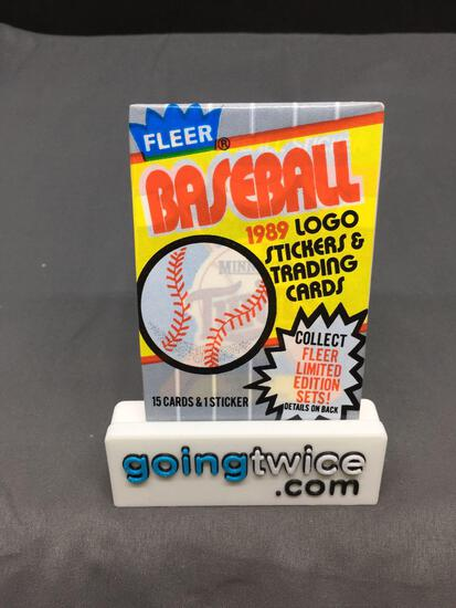 Factory Sealed 1989 Fleer Baseball Vintage 15 Card Pack - Griffey RC? Ripken Error?