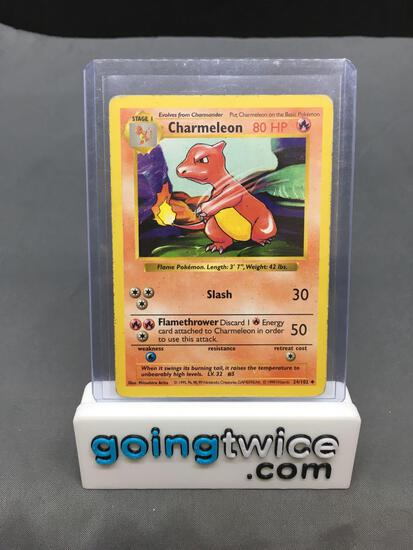 1999 Pokemon Base Set Shadowless #24 CHARMELEON Trading Card from Vintage Collection
