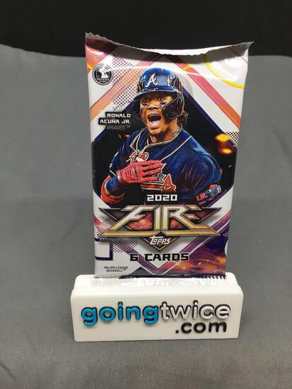 Factory Sealed 2020 TOPPS FIRE Baseball 6 Card Pack