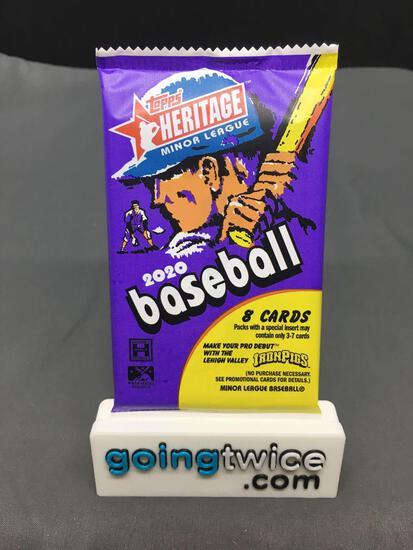 Factory Sealed 2020 Topps HERITAGE Minor League Baseball Hobby Set 8 Card Pack