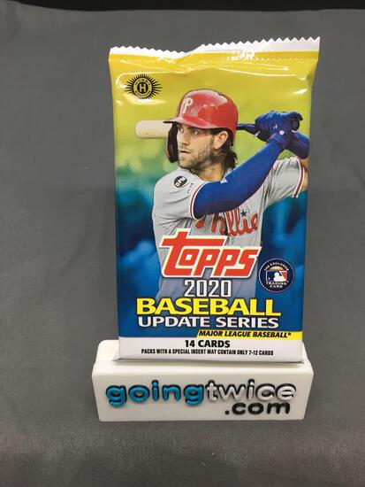 Factory Sealed 2020 Topps UPDATE SERIES Baseball 14 Card Pack