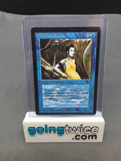 Vintage Magic the Gathering Beta CREATURE BOND Trading Card from Huge Collection