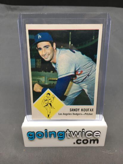1963 Fleer #42 SANDY KOUFAX Dodgers Vintage Baseball Card