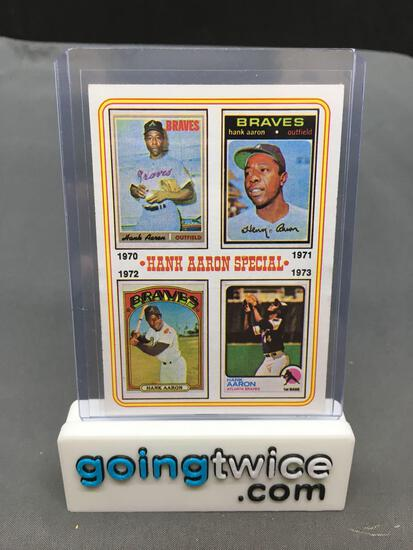 1974 Topps #6 HANK AARON Special Braves Vintage Baseball Card