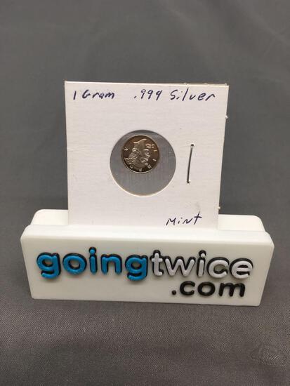 1 Gram .999 Fine Silver Mercury Head Silver Bullion Round Coin from Estate