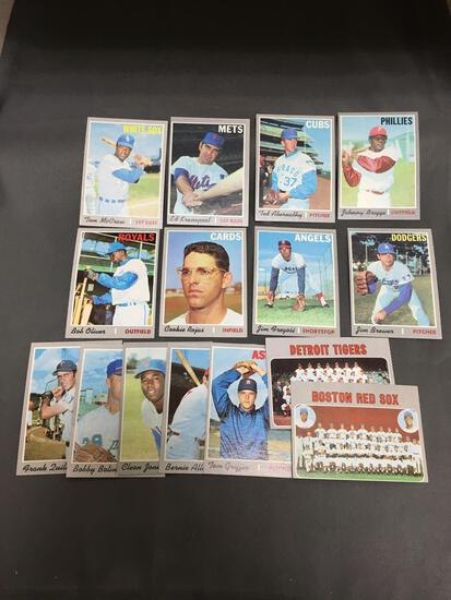15 Card Lot of 1970 Topps Baseball Vintage Baseball Cards from Huge Collection