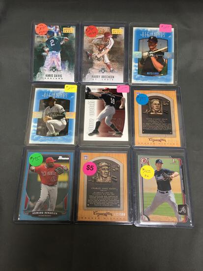 9 Card Lot of SERIAL NUMBERED Baseball Cards from Huge Store Closeout Collection - Some Low #'d!