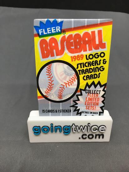 Factory Sealed 1989 FLEER Baseball 15 Card Pack - 1 Sticker - Ken Griffey Jr. Rookie? Bill Ripken FF