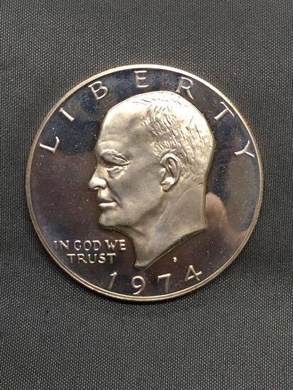 1974 United States Eisenhower Silver Dollar - 40% Silver Coin from Estate