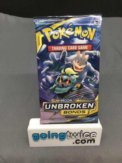 Factory Sealed Pokemon Sun & Moon UNBROKEN BONDS 10 Card Booster Pack