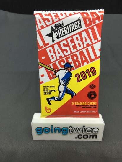 Factory Sealed 2019 Topps HERITAGE MLB Baseball Hobby Set 9 Card Pack