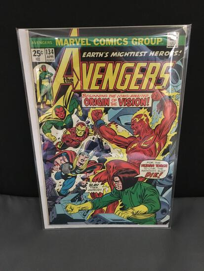 Vintage Marvel THE AVENGERS #134 Comic from Estate Collection - Agatha Harkness WANDAVISION