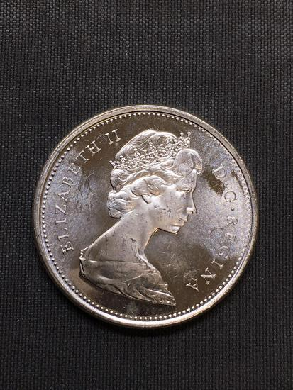 1965 Canada Silver Quarter - 80% Silver Coin from Estate - UNCIRCULATED - 0.15 Ounce ASW