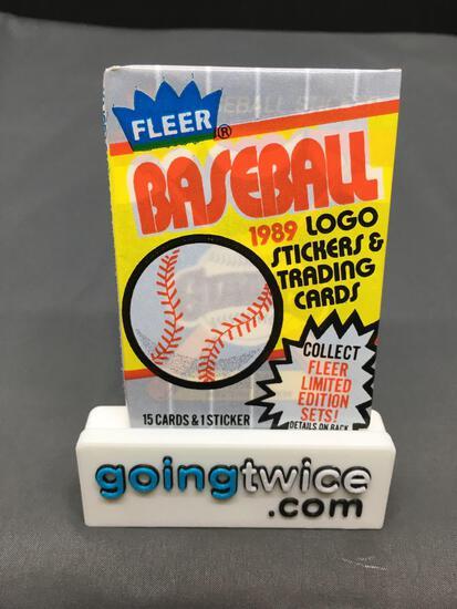 Factory Sealed 1989 FLEER Baseball 15 Card Pack - Ken Griffey Jr. Rookie Card?