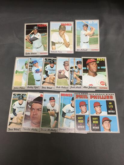 15 Card Lot of 1970 Topps Vintage Baseball Cards from Huge Collection