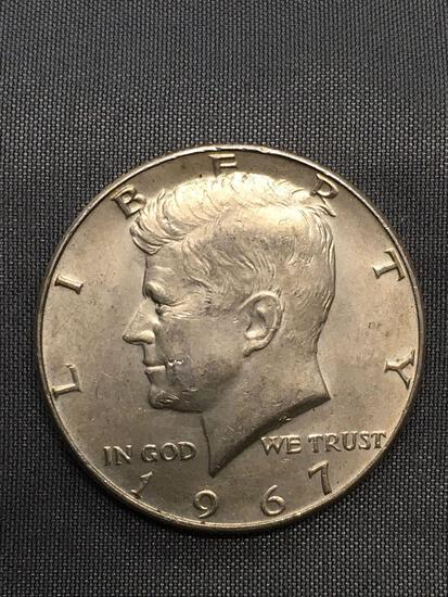 1967 United States Kennedy Silver Half Dollar - 40% Silver Coin from Estate