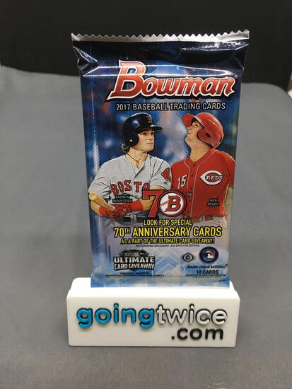 Factory Sealed 2017 BOWMAN Baseball 10 Card Hobby Pack - Amazing Year JUDGE ACUNA BELLINGER ROOKIES