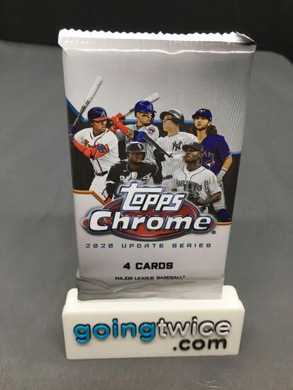 Factory Sealed 2020 Topps CHROME UPDATE Series Baseball 4 Card Pack