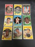 9 Card Lot of 1959 Topps Baseball Vintage Baseball Cards from Huge Collection