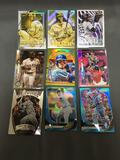 9 Card Lot of Baseball REFRACTORS and PRIZMS from Nice Collection - Stars, Future Stars, and More!