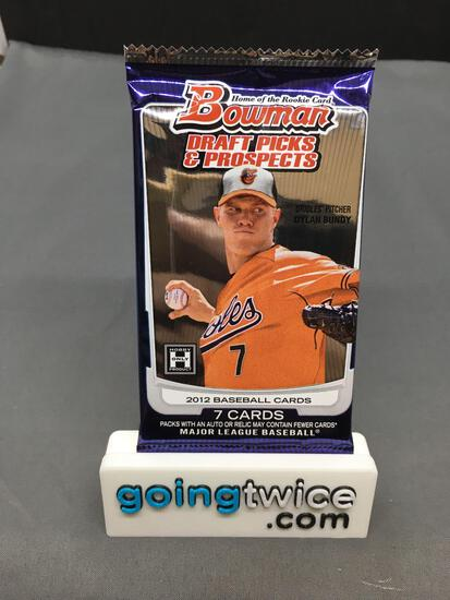 Factory Sealed 2012 BOWMAN Draft Picks & Prospects Baseball Hobby Edition 7 Card Pack